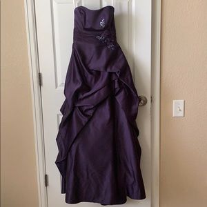 David's Bridal Purple Gown